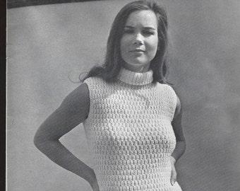 Vintage Pullover Knit Shell - Mock T - PDF