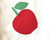 Vintage Applique Apple Te...