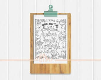 Instant Download - Colossians 3:12 Coloring Page