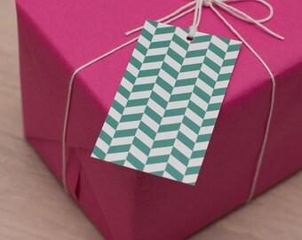 herringbone gift tags