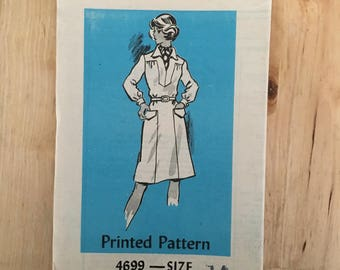"""Vintage 1970's Anne Adams mail order pattern 4699 Sheath dress with collar and yoke in 3 sleeve lengths Size 14 Bust 36"""""""