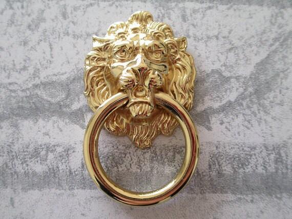 Lion Drawer Pull Knobs Handles Dresser Drop Pulls Silver
