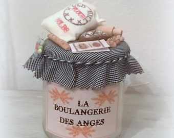 "Candle ""Bakery of Angels"" miniature bakery, 'Little angels counters' collection"