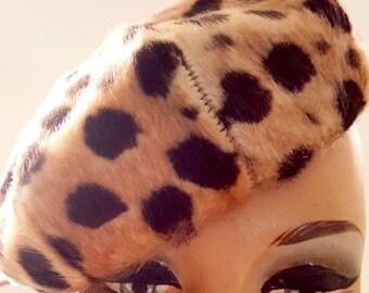 Leopard Fur Barret