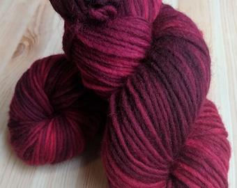 Hand Dyed Bulky 100% Wool Yarn