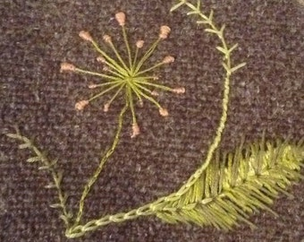 Hand sewn embroidery - add a beautiful piece of artwork to any project