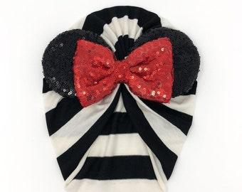 Little Minnie Turban || Black and White III