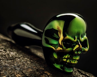 FREE SHIPPING !Sick Skull pipe from Brebes