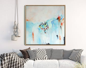 Blue Abstract Print, Abstract Landscape, Giclee Print, Colourful Abstract, Modern Art Print, Home Decor, Wall decor, Wall Art