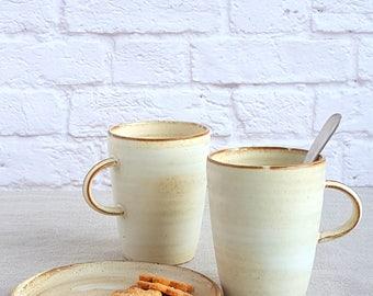 Coffee Mug Set, Ceramic Mug Set, Mug Set of 4, Set for 6, Pottery Mug, Tall Coffee mug, Large Tea Mug, Large Tea Cup, handmade mug