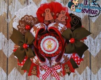 Gingerbread OTT Bow
