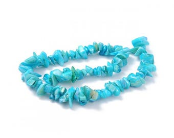 70 color mother of Pearl chips beads turquoise