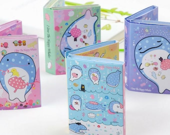 Kawaii Whale Shark Jinbe San Folding Memo Pad Sticky Notes ~ Cute Japanese Cartoon Planner Journal Diary Notes, School Supplies Office Memo