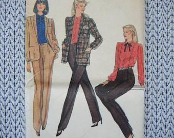 vintage 1980s Vogue sewing pattern 7841 misses jacket pants and blouse UNCUT size 12