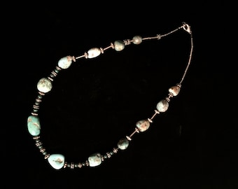 Green Turquoise Stone Necklace