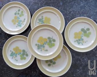 "Vintage Franciscan Earthenware Pebble Beach 8-3/8"" Salad Plates, set of 6"