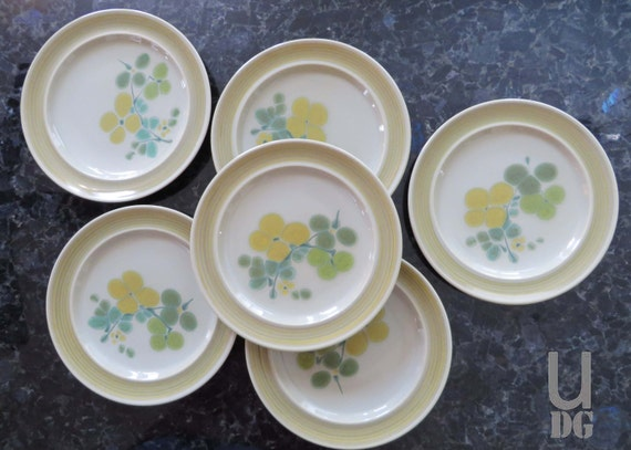 Vintage Franciscan Earthenware Pebble Beach 8-3/8\  Salad Plates set of 6 : franciscan dinnerware - pezcame.com