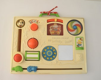 Vintage Fisher Price activity, 1973, table activity center