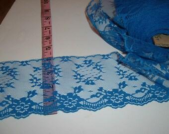"""4"""" wide Blue lace trim 9 yds  (D645)"""