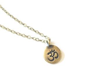 Ohm Necklace, Om Necklace, Zen Necklace, Yoga Necklace, Yoga Om Jewelry, Meditation Jewelry, Ohm Jewelry, Yoga Teacher Gift for Yoga Teacher