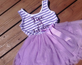 Five and Fabulous - Fifth Birthday Dress