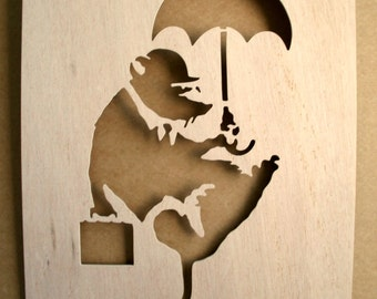Banksy Rat Businessman Stencil