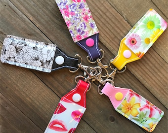 Lip Balm Holder, Lip Balm Keychain, Lip Balm Cozy, Chapstick Holder---You Choose from 5 combinations!