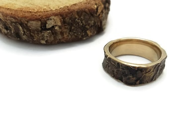 Bark ring, Oak Tree, Bark Jewelry, Bronze ring, Woodland Jewelry, Metal, Tree Bark, Tree Trunk, Nature jewelry, Forest, Men and Women