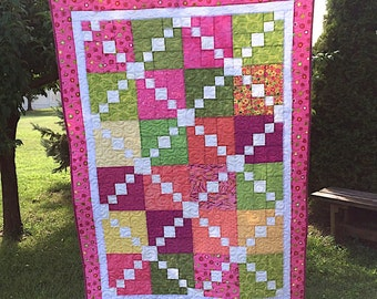 Reduced Price - Summer Sherbet Lap Quilt - Sale