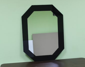 Deep Black Rectangle Wall Mirror 31.inch X 23.inch