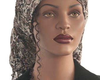 Hair Sock Lock Sock Brown Black Cotton Jersey Dreadlocks Hair Dreads Tube Sock Head Tube Hat Handmade