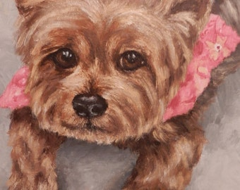 "PET PORTRAIT - Custom Painting in Acrylics or Pastel - Original Dog Art 11""x14"""