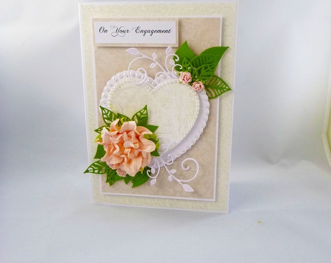 Engagement Card, Congratulation Card, Your Engaged, To a Special Couple, Celebration Card