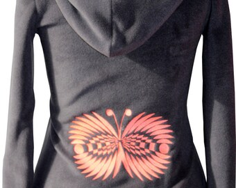 Sweater made in France Crop Circles Butterfly (2) personalized