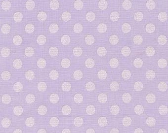Lilac Spot Fabric, Robert Kaufman, Pearl, Lavender, 100 % Cotton Fabric, UK sales only