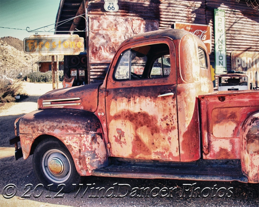 Headin\' West Fine Art Photo of Rusted Pickup Truck Old