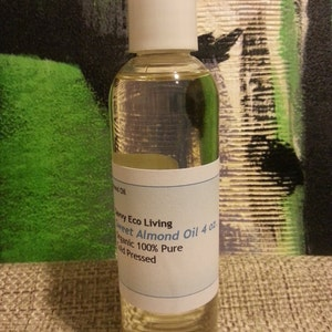 Sweet Almond Oil Organic 100% Pure Cold Pressed 4 oz