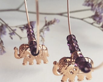 Beaded Elephant hoops