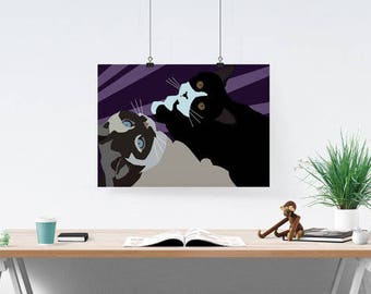 Custom Cat Portrait, Painting from Photo, Custom Cat Art, Cat Portrait, Cat Portrait Painting, Custom Cat Art, Cat Art