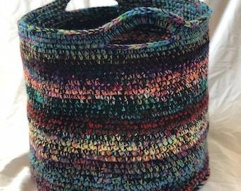 Grand sac, multicolore au crochet