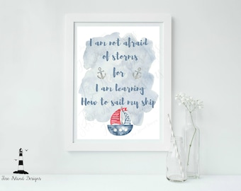 Nautical Nursery Print, Nautical Printable, Sailboat Print, Little Boy Print, Anchor Print, Boy Nautical Decor, Nautical Wall Art,