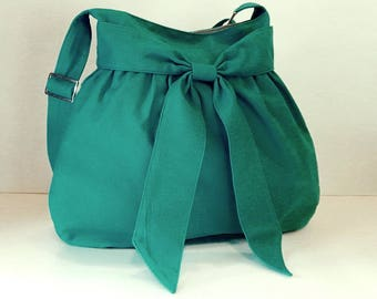 Sale - Teal canvas bag - Shoulder bag, Diaper bag, Crossbody bag, Messenger bag, Tote, Travel bag, Women - AMY