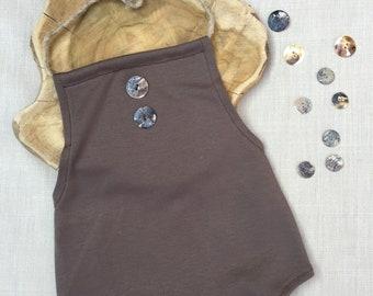 LOU-ISA Sitter Romper-pack brown 6-12 months