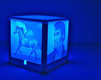 Nightlight/ decorative customized light. Personalized housewarming gift.