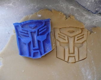 Autobot Transformers Superhero logo cookie cutter play doh cake fondant bakery baking tool special occasion 3D Printed - Made in USA PR435