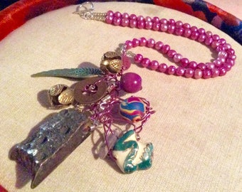 Mixed media  Necklace SALE was 75