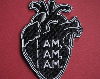 I AM I AM I AM - Sylvia Plath inspired embroidered patch