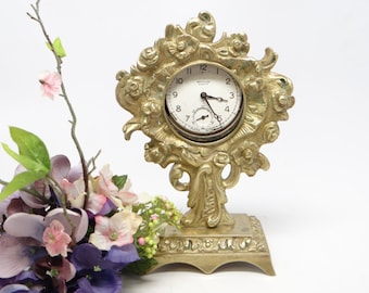 Antique Bronze Pocket Watch Holder