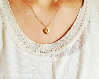 Pearl heart locket necklace, pearl necklace, locket jewelry, heart locket necklace, pearl locket necklace, minimalist necklace