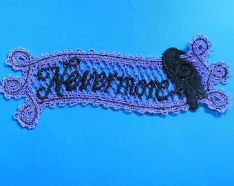 Halloween Lace Applique for Crafts, Ornament or Crazy Quilt - Nevermore Raven